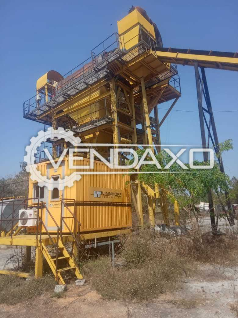 Linnhoff Make CMX 1500 Batch Type Hot Mix Plant For Road Construction - 124 TPH