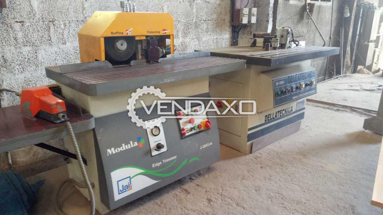 For Sale Used Dellatecnica Manual Edge Banding Machine + Edge Trimmer Machine - 2007 Model