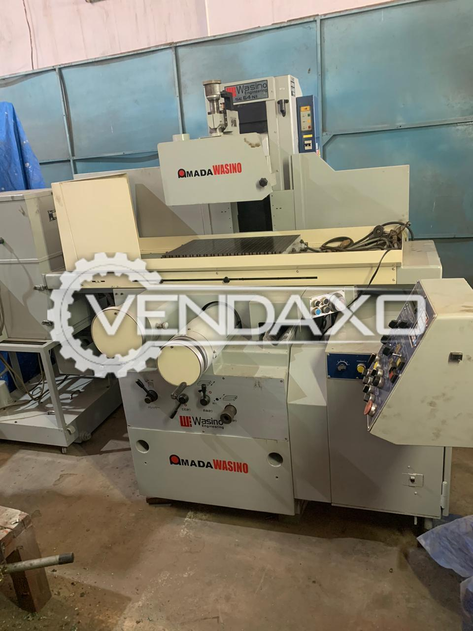 Amada Wasino Make Hydraulic NC Surface Grinding Machine - Table Size : 600 x 400 mm