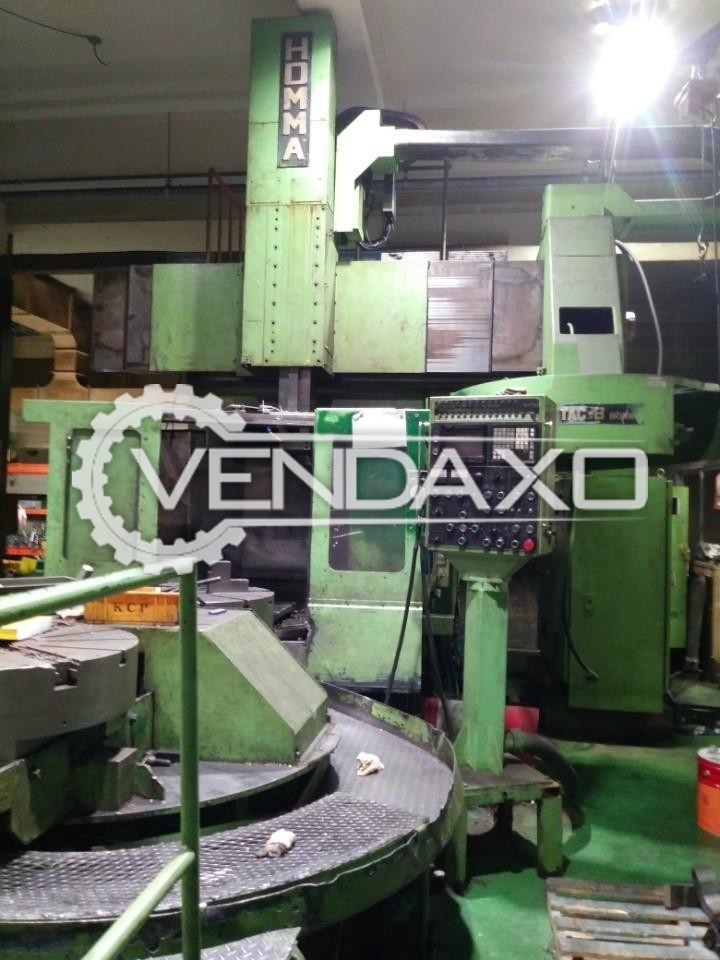 Homma TAC-8 CNC Vertical Turning Lathe VTL Machine - Table Diameter - 800 mm