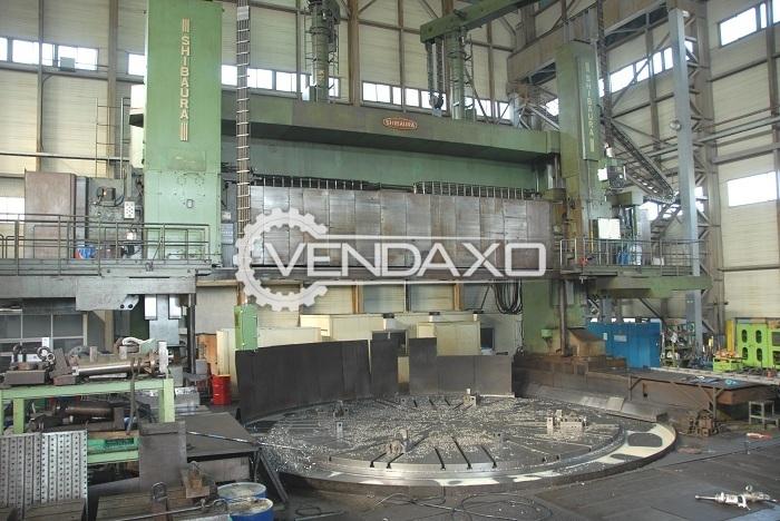 Shibaura TMG-10750S CNC Vertical Turret Lathe VTL Machine - Table Diameter - 8000 mm