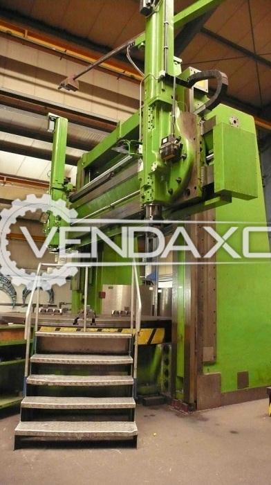 WMW-VEB DKZ4000 CNC Vertical Turret Lathe VTL Machine - Faceplate Diameter : 3500 mm