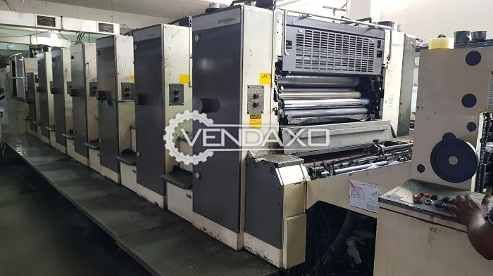 Mitsubishi 3F Offset Printing Machine - 28 x 40 Inch, 6 Color