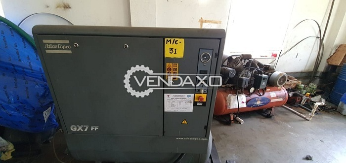 Atlas Copco GX7FF Rotary Screw Air Compressor - Power - 7.5 KW