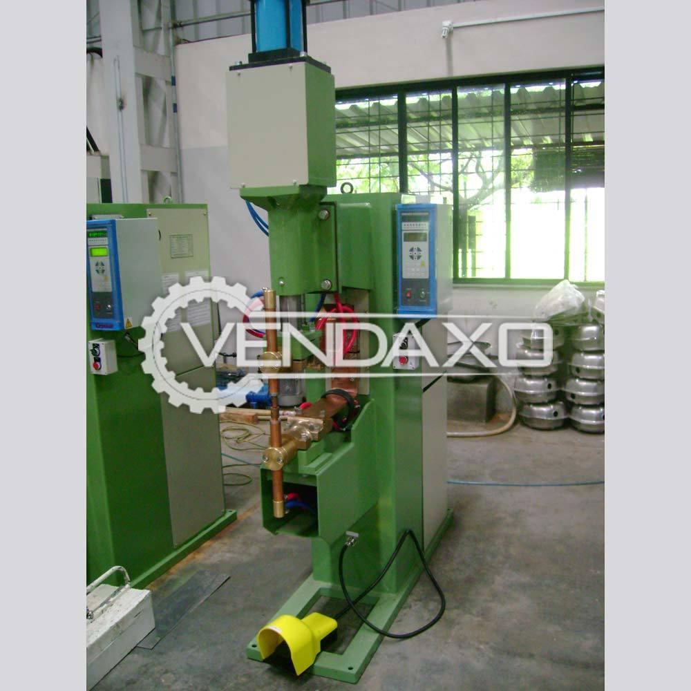 Mechelonic Engineers Make KSLP-120 MFDC Spot Welding Machine - 100 X 100 mm