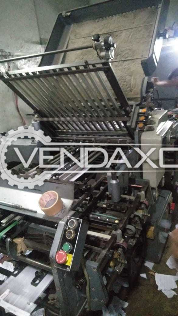 For Sale Used Paper Folding Machine - Size - 23 x 36 Inch