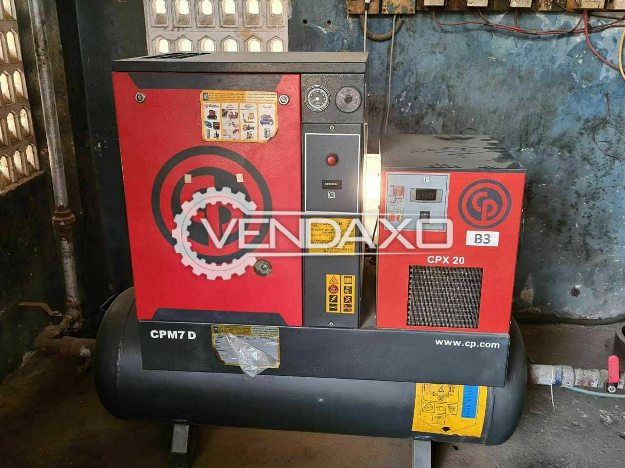 Chicago  CPM7D Pneumatic Air Compressor - Power : 7.5 HP