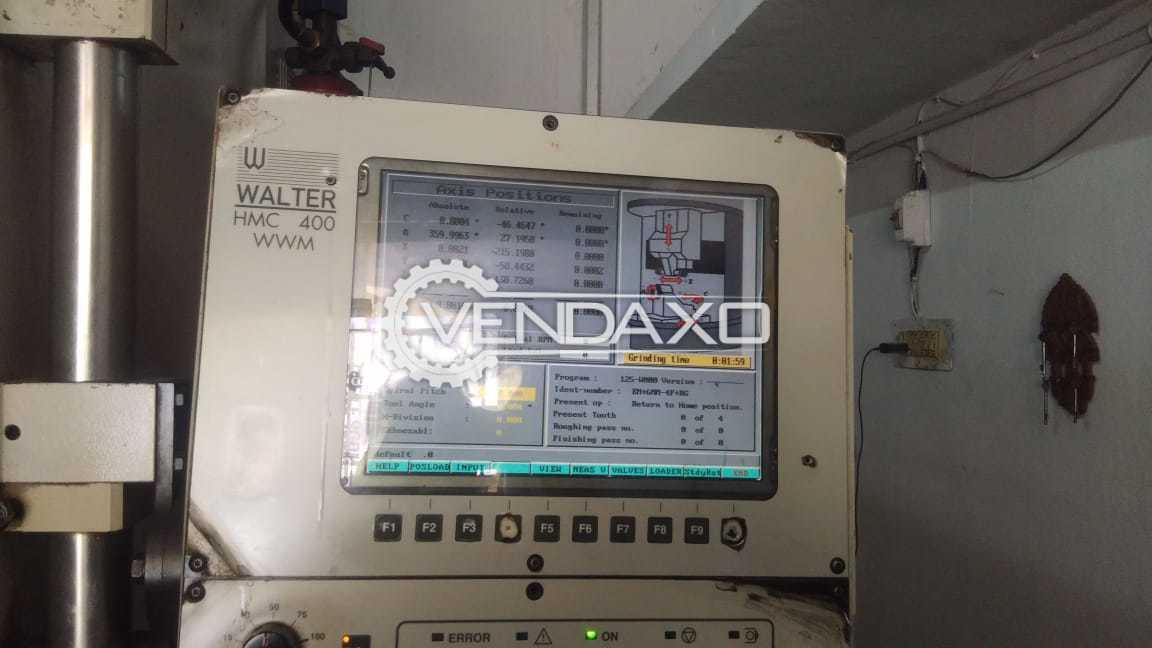 Walter HMC 400 WWM CNC 5 Axis Tool & Cutter Grinding Machine - Travel Size : 406 x 248 x 578 mm