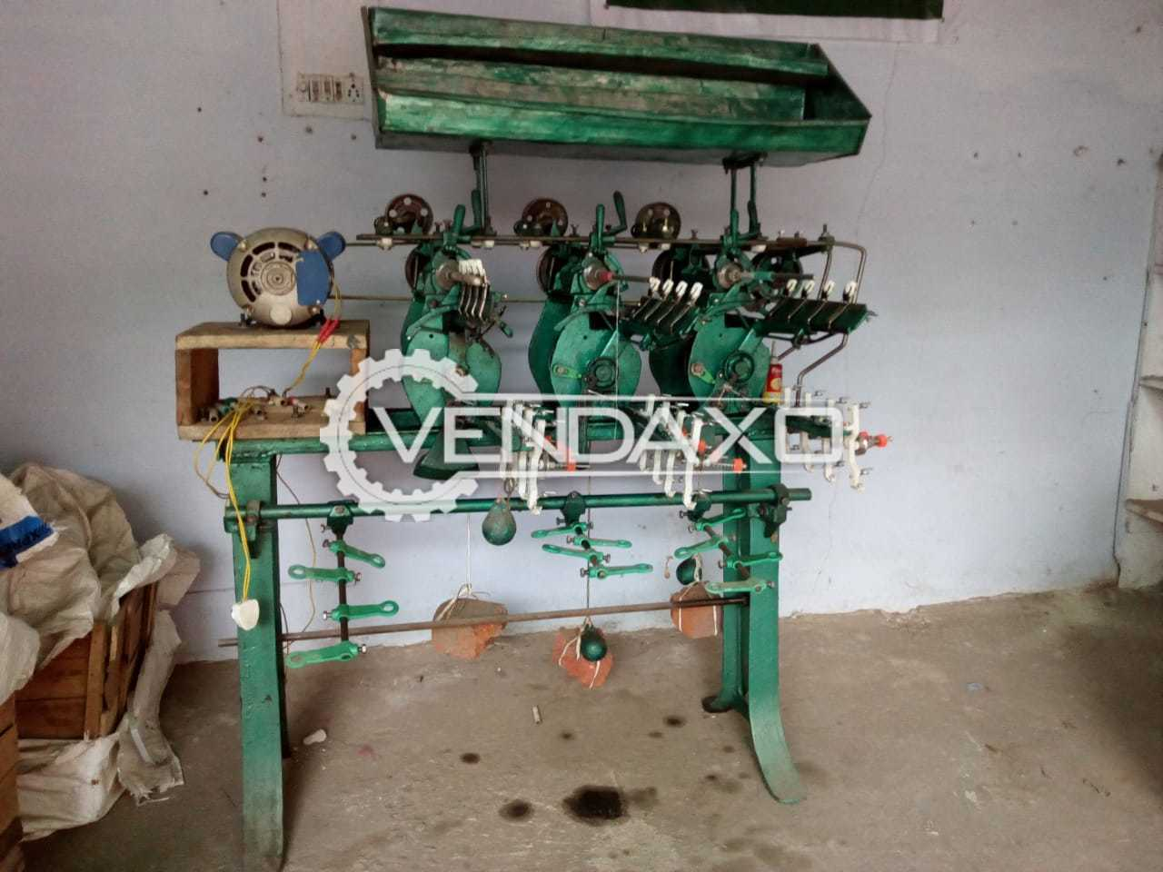 For Sale Used Manual Thread Winding Machine - 3 Head