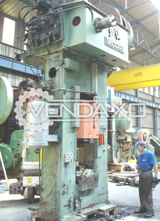 Vaccari 10NS Friction Screw Press Machine - Capacity : 1000 Ton