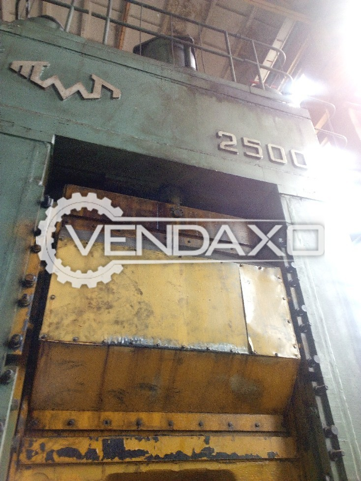 TMP Voronezh Russia K8344 Knuckle Joint Coining Press Machine - Capacity : 2500 Ton