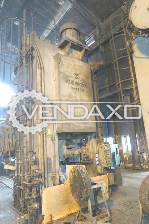 Kurimoto Make Knuckle Joint Coining Press Machine - Capacity : 1500 Ton