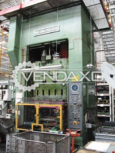 Weingarten DX630-16-25 Forging Press Trimming Machine - 630 Ton
