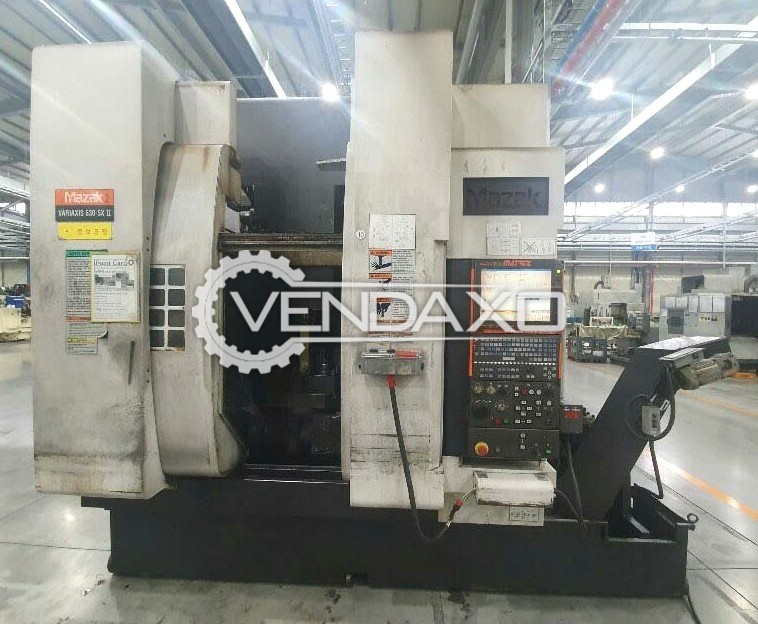 Mazak WARIAXIS 630‐5X II CNC Horizontal Machining Center HMC - 630  x 765 x 600 mm