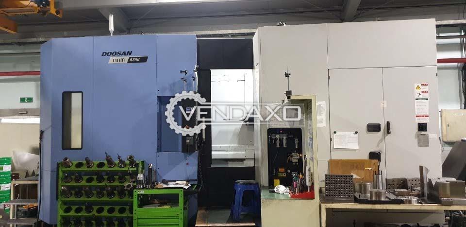 Doosan NHM 6300 CNC Horizontal Machining Center HMC - 630 mm