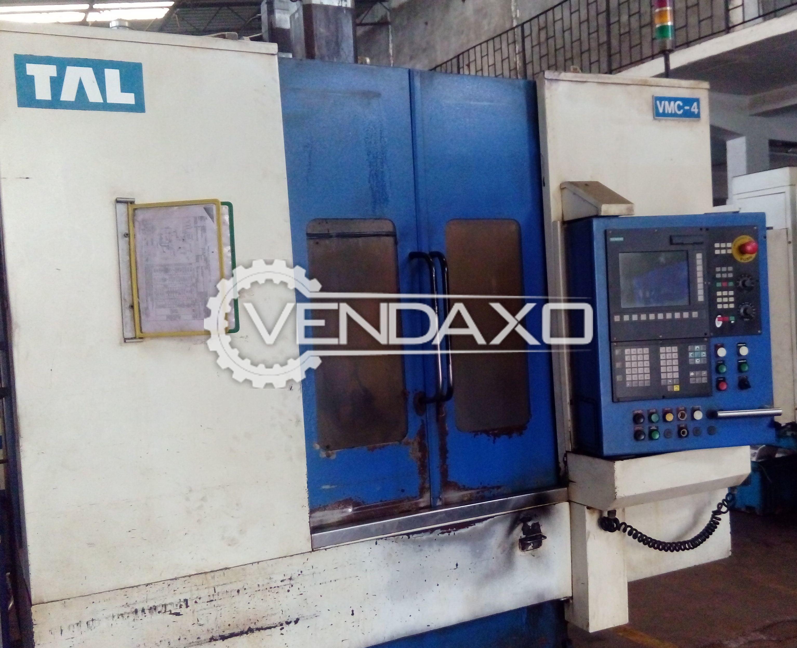 TAL CNC Vertical Machining Center VMC - Table Size - 700 x 400 mm