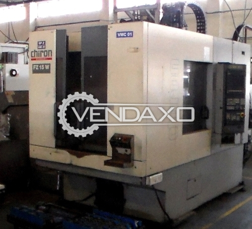 Chiron FZ15W Vertical Machining Center VMC - Table Size - 630 x 400 mm