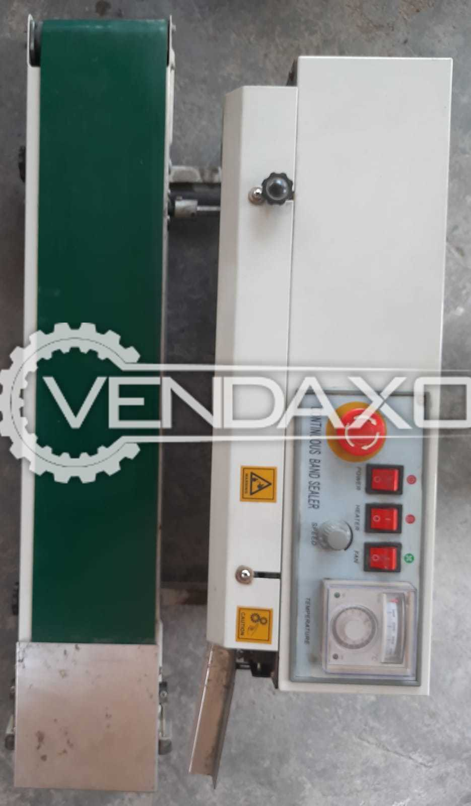 For Sale Used Continuous Band Sealing Machine - Power - 650 Watt