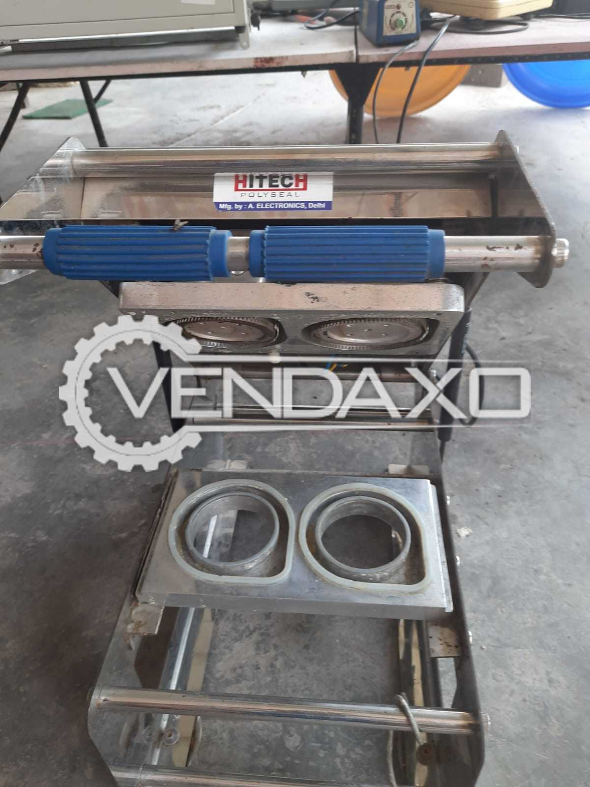 Hi Tech Cup Sealer Machine - Power - 300 to 400 Watt