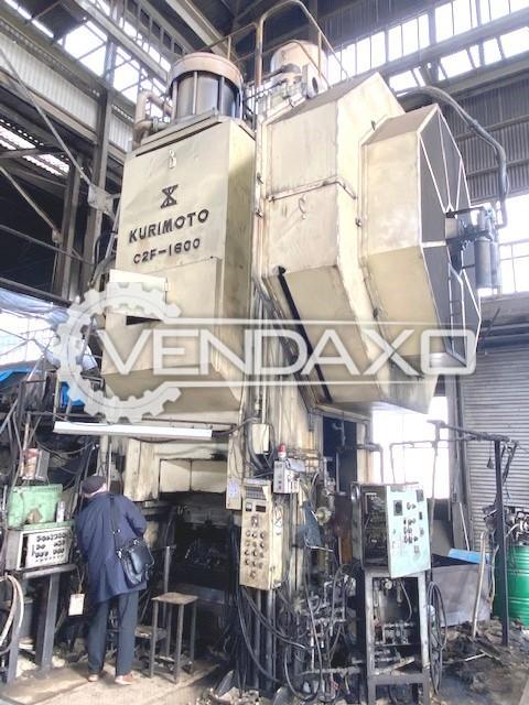 Kurimoto C2F-1600 Hot Forging Line - Capacity : 1600 Ton