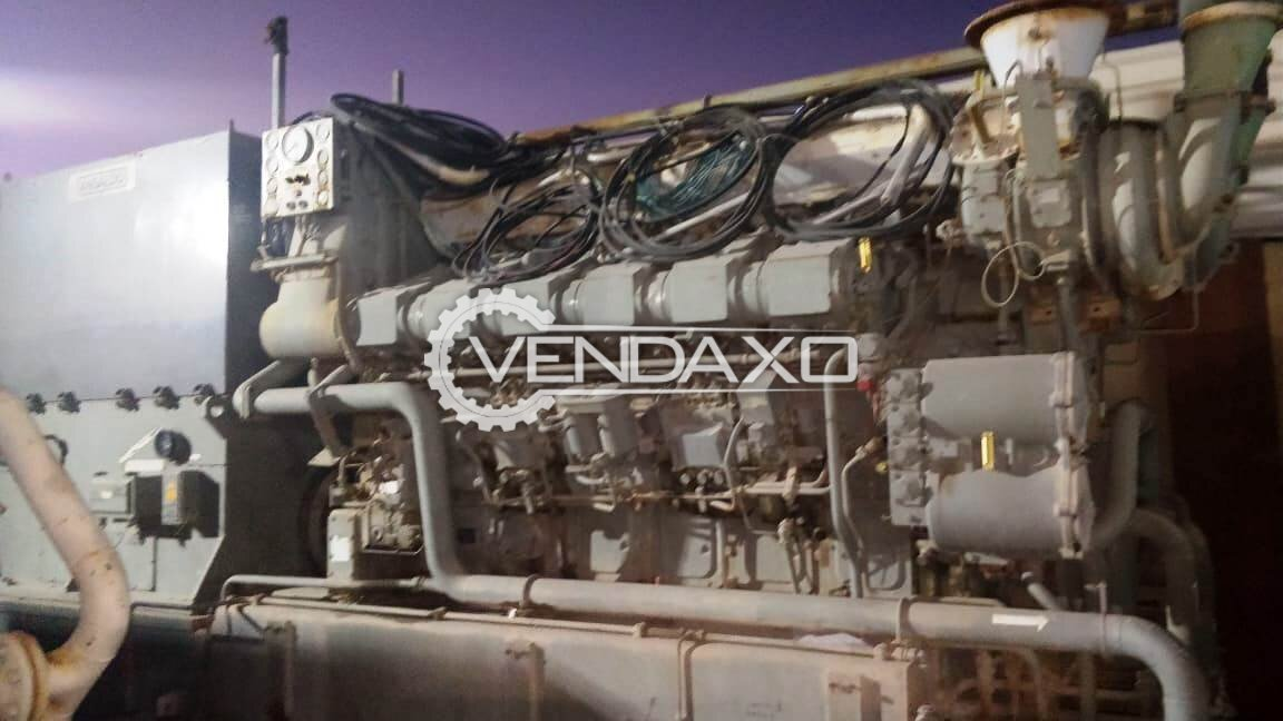 For Sale Used Deutz BV 12M628 Marine Generator - 2625 Kva