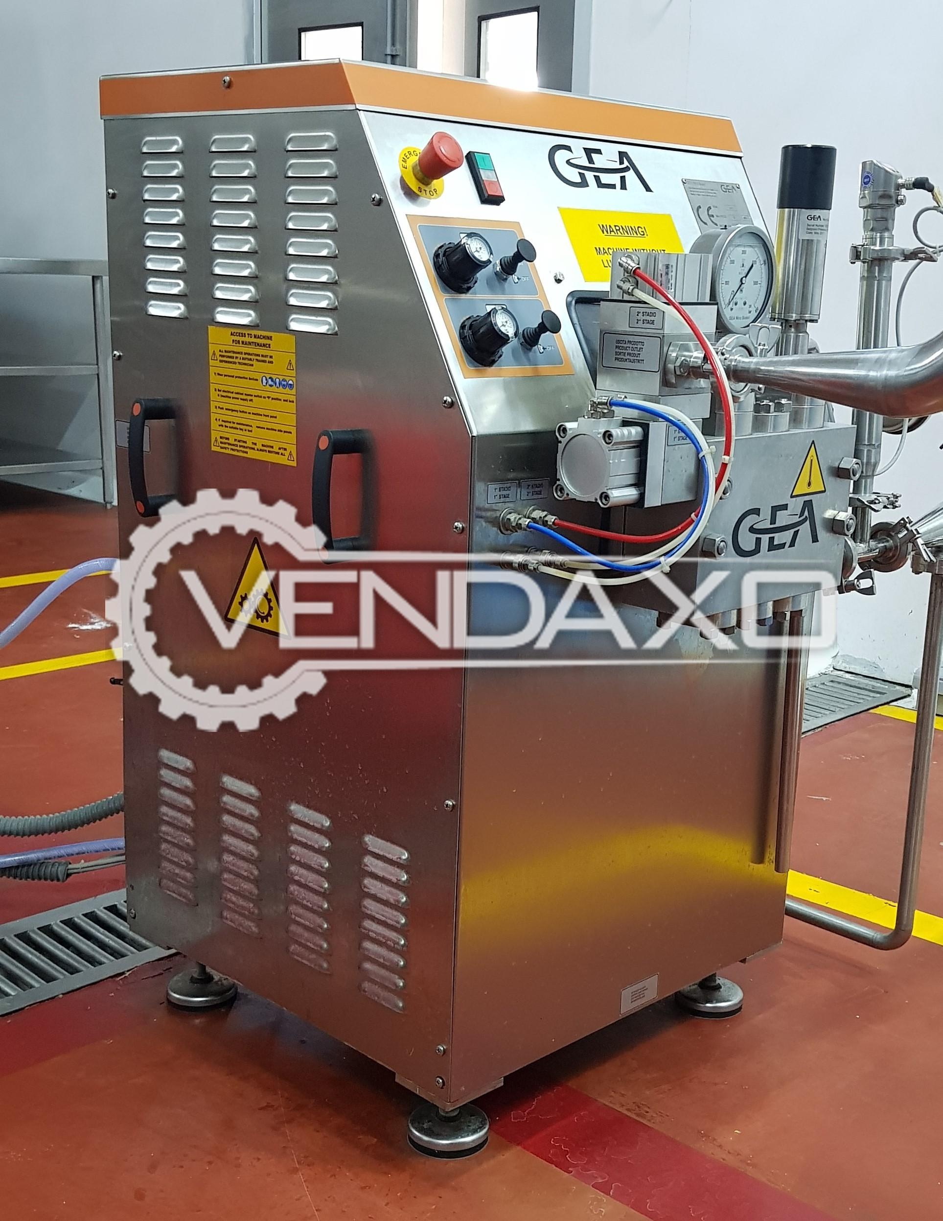 GEA One 7TS Homogenizer Machine - 650 to 1000 l/h