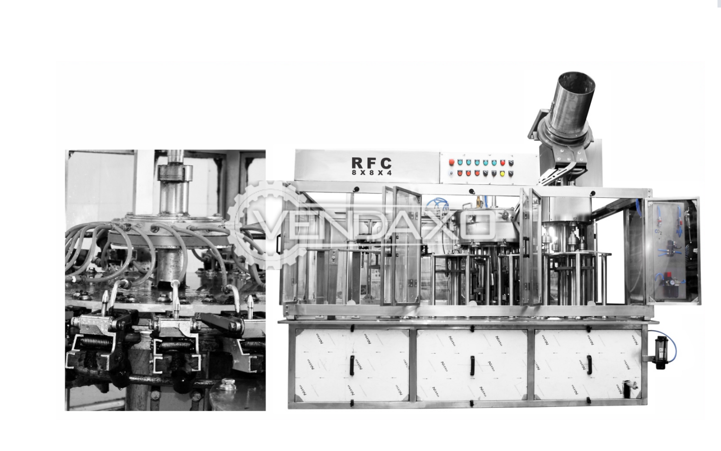 S.S Engineering RFC 60 Machine for Filling of Soda and carbonated drinks - 60 BPM for 500 Ml