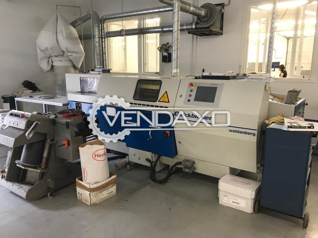 For Sale Used Wohlenberg Quickbinder PUR Perfect Binding Machine - 2002 Model