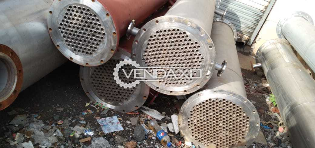 For Sale Used SS 316 Condenser With MS Jacket & Domes