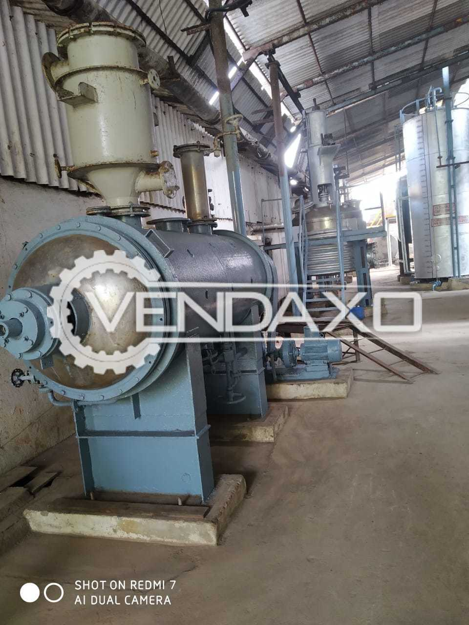 SS 316 Rotary Vacuum Dryer (RVD) - 2 KL With MS Jacket