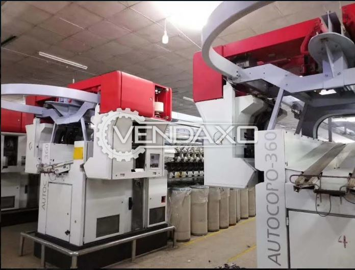 For Sale Used 3 Sets Autocoro 360 & 1 Sets Autocoro 312 Spinning Machine - 312 Spindle