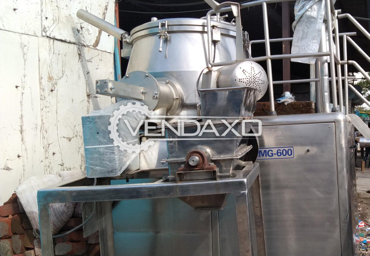 SS 316 Rapid Mixing Granulation (RMG) - 600 Liter, GMP Model