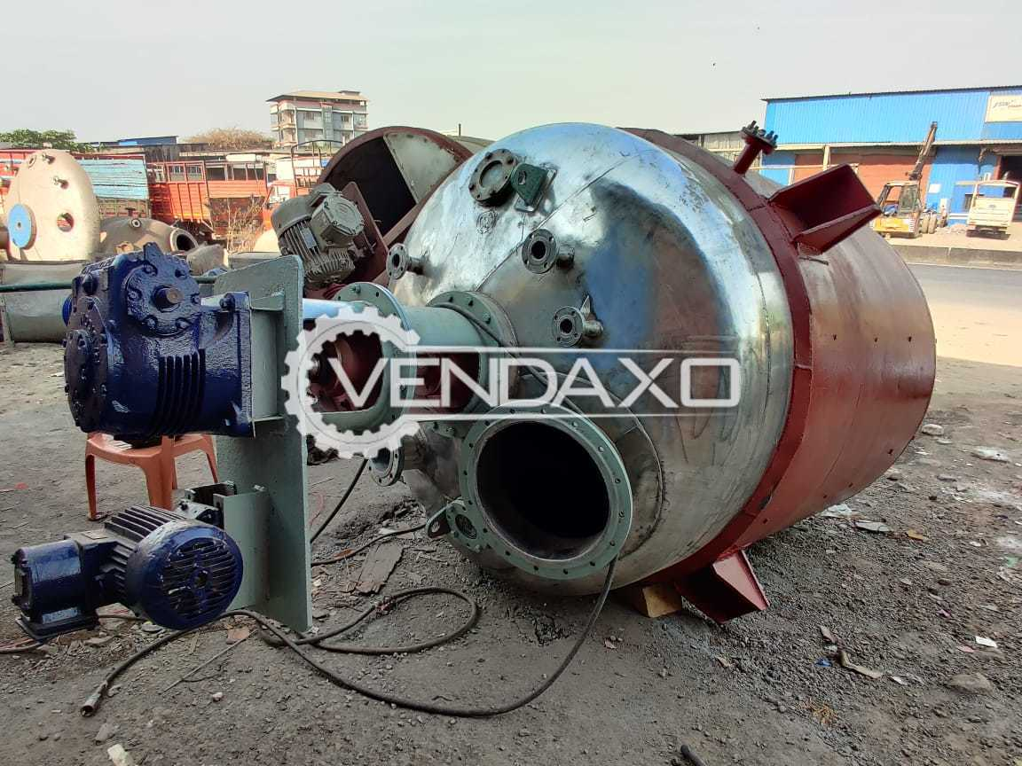 SS 316 Fully Refurbished Reactor - 8 KL With MS Jacket