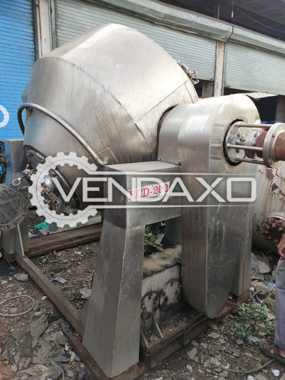 SS 316 Roto Cone Vacuum Dryer (RCVD) - 1500 Liter, GMP Model