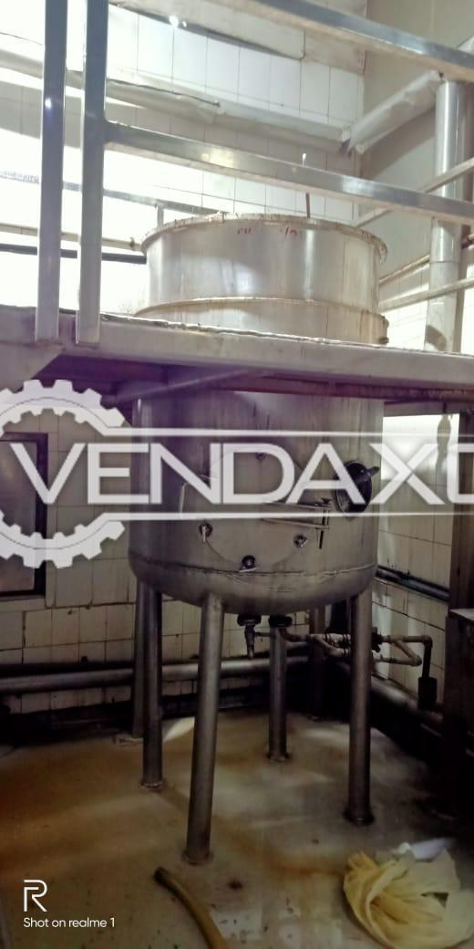 For Sale Used Jacked Vessel for Herb Extraction - 1200 Liter