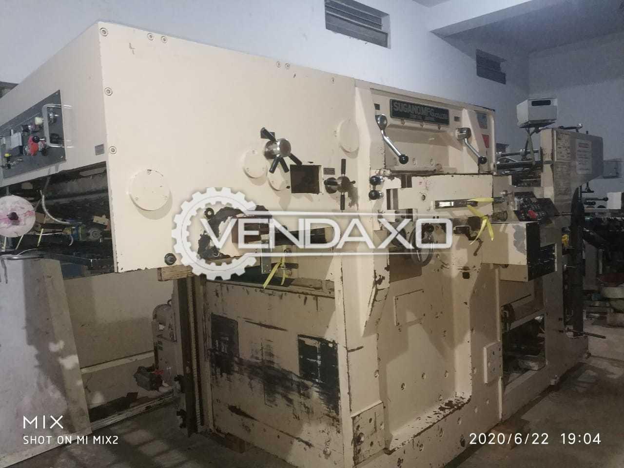 Sugano NF 1000 Die Punching Machine - Size - 28 x 40 Inch