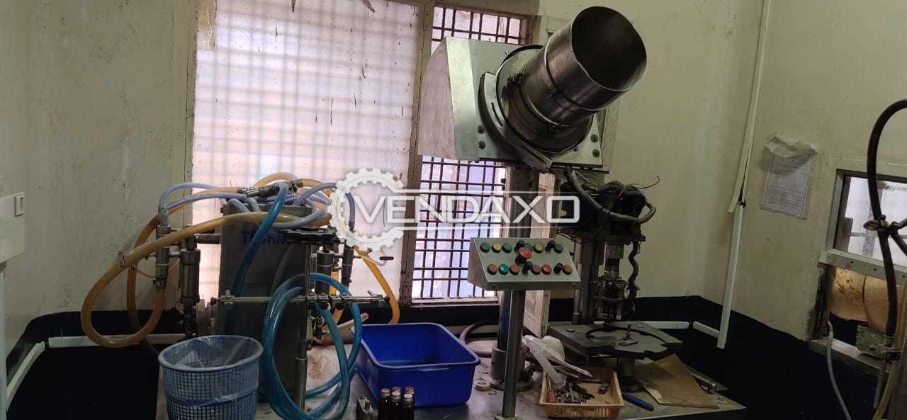 Liquid Filler - 4 head & Capping Machine - Single head