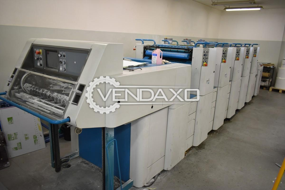 Polly 574 Offset Printing Machine - 20 x 30 Inch, 5 Color