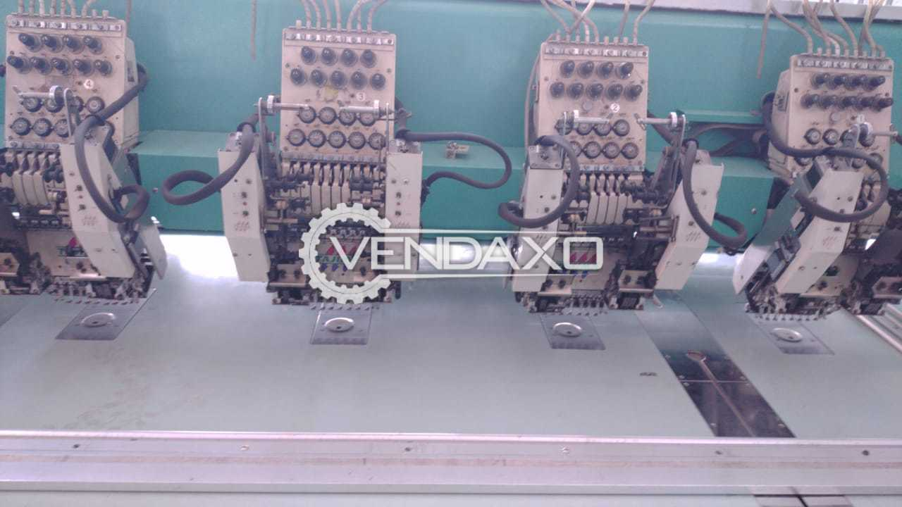 Japan Make TFGN-918 Computerized Embroidery Machine - 400 x 800 x 1200 mm