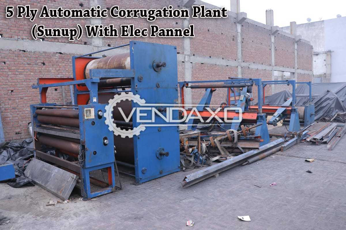 Automatic Corrugated Plant - 5 Ply With Elec Pannel