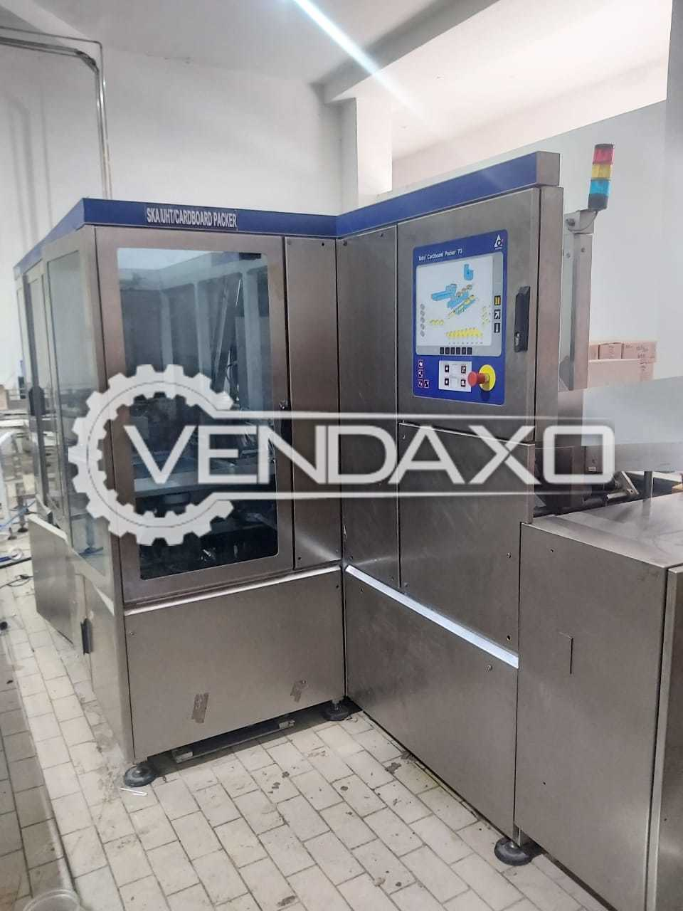 For Sale Used Tetrapak Cardboard Packer 70 Machine - 7000 P/h