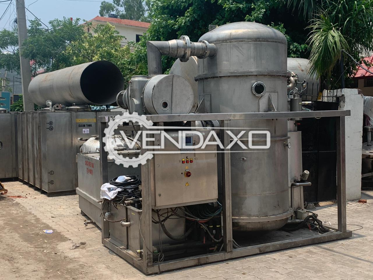 For Sale Used Vacuum Distillation Plant - 400 to 500 Liter Per Hour
