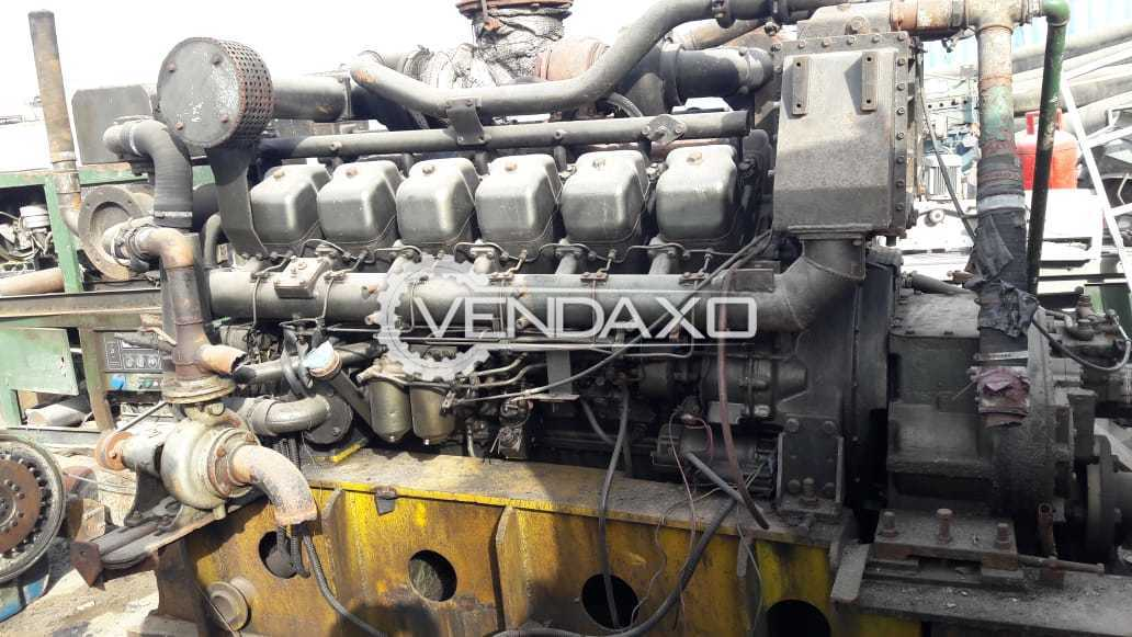 For Sale Used Mitsubishi S12R- MPT Marine Generator Engine With Gear Box