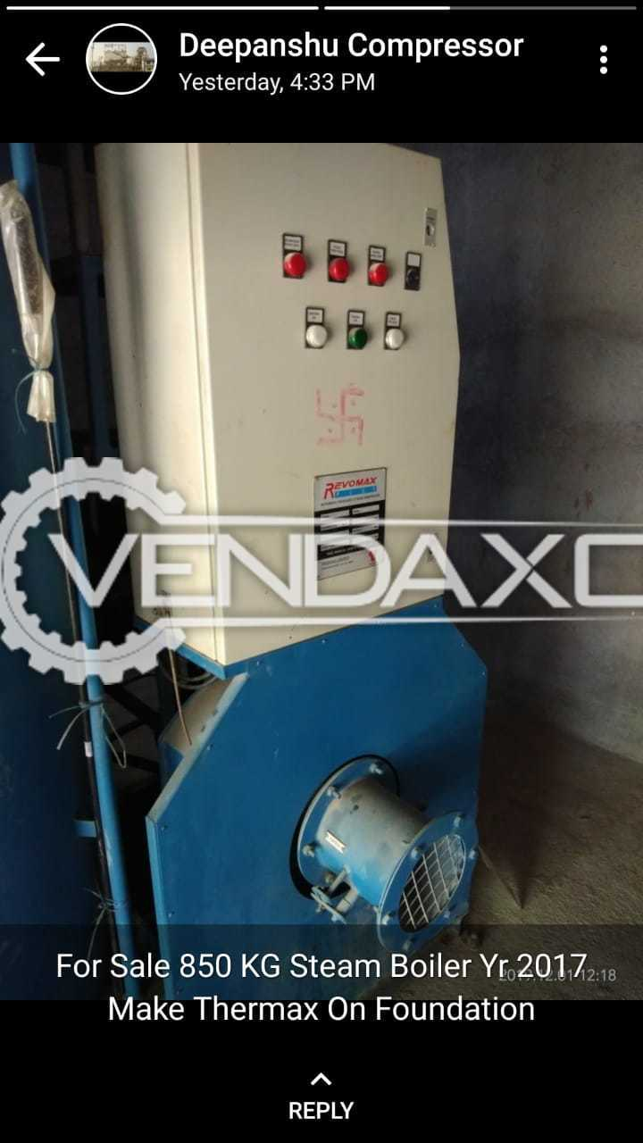 For Sale Used Thermax Husk Pack Boiler - 5 Ton
