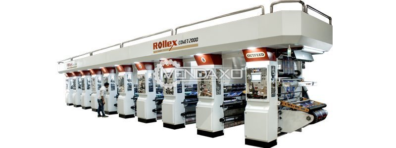 Rollex Comet 2000 Rotogravure Machine - 1050 mm, 8 Color