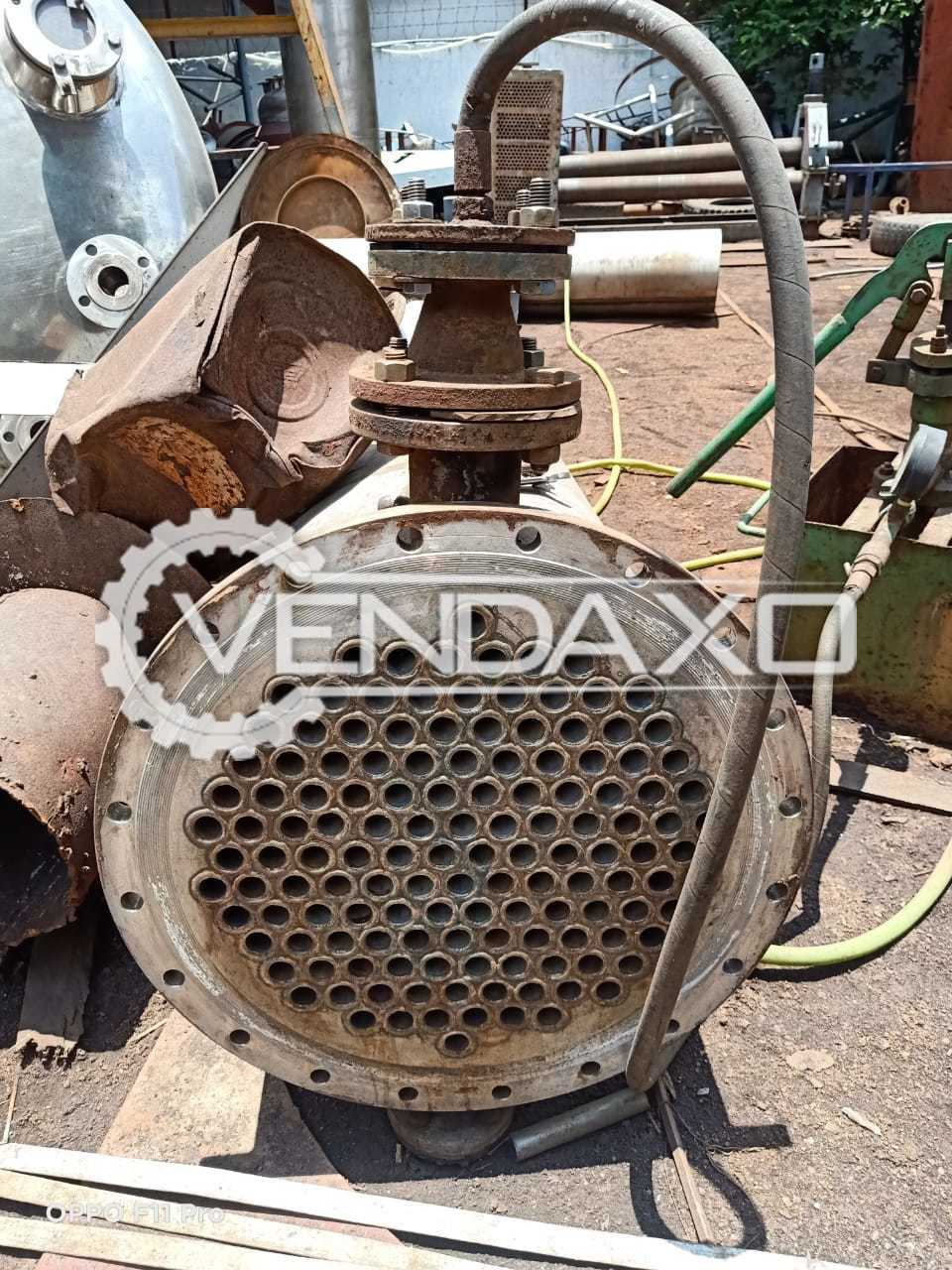 For Sale Used Complete Set OF SS 316 Shell & Tube Condensers
