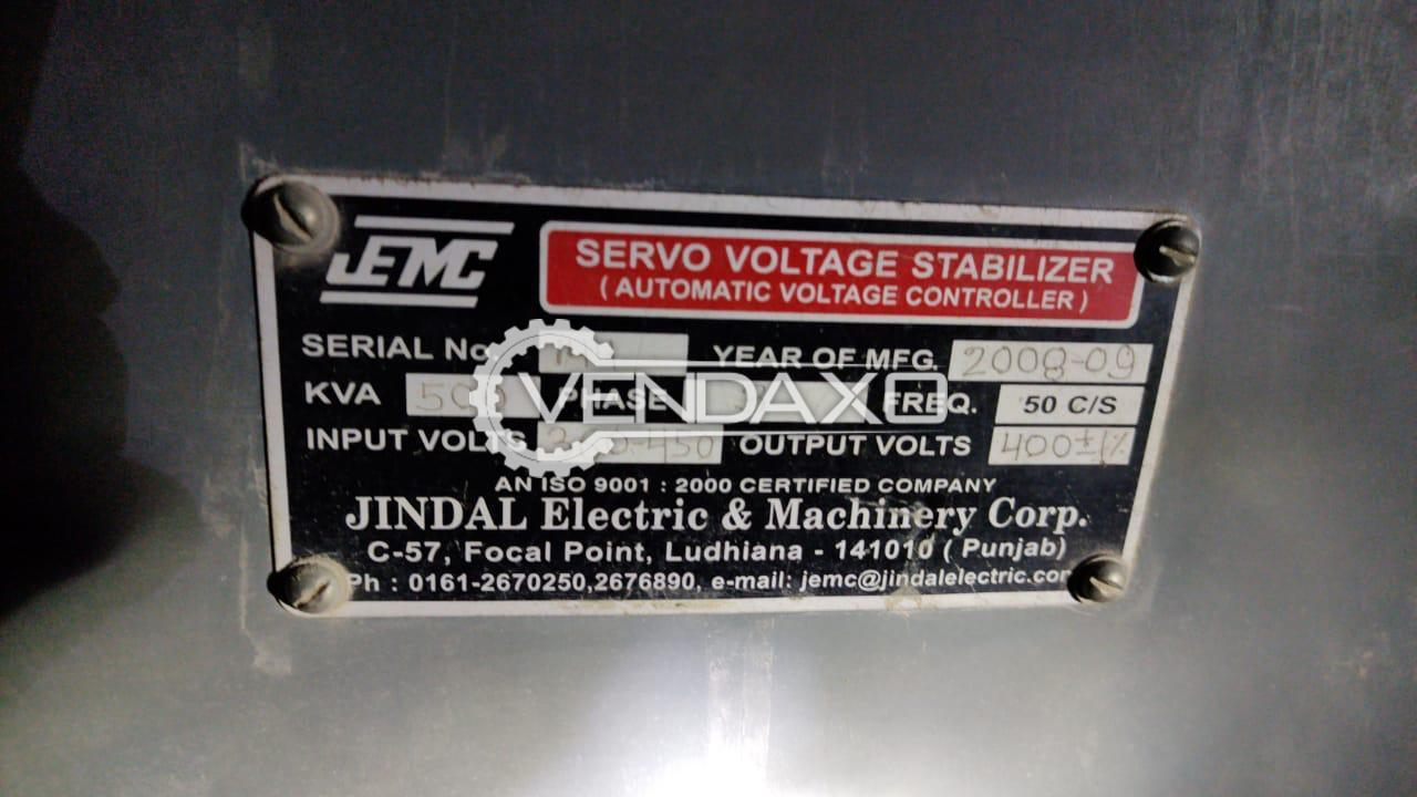 JEMC Servo Automatic Voltage Stabilizer - 500 Kva