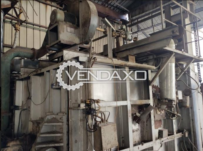 For Sale Used Gas Fired Tilting Type Aluminium Melting Furnace for Disposal - 9 MT