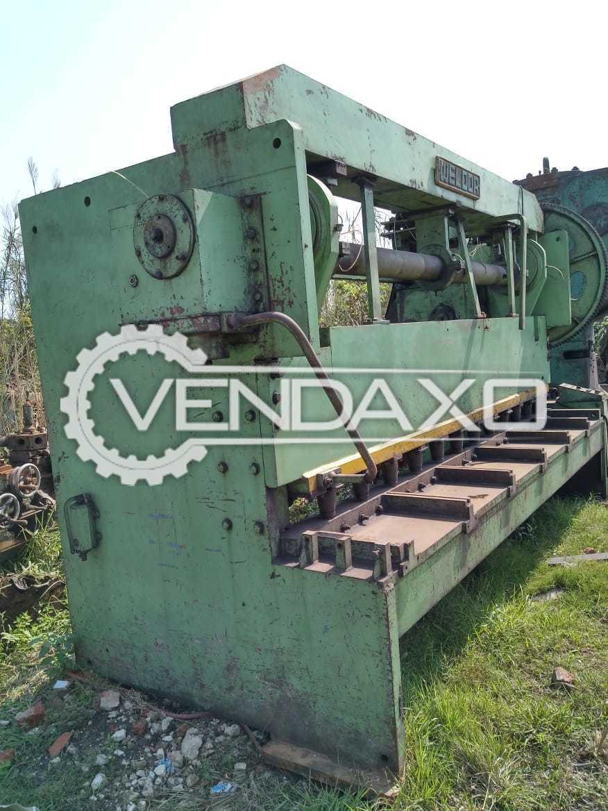 Weldor Mechanical With Pneumatic Clutch Shearing Machine - 3500 x 10 mm