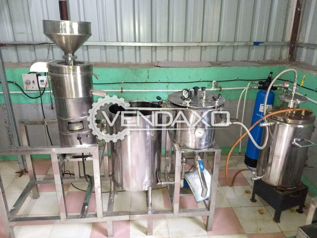 Soya Milk Plant -  200 Liter/ Hr